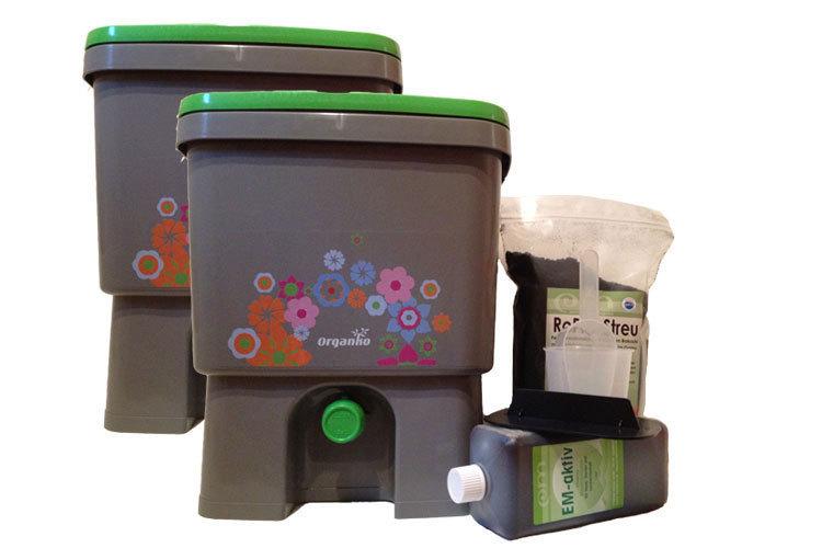 organiko bokashi eimer starterset gro fischer gmbh em kompost. Black Bedroom Furniture Sets. Home Design Ideas