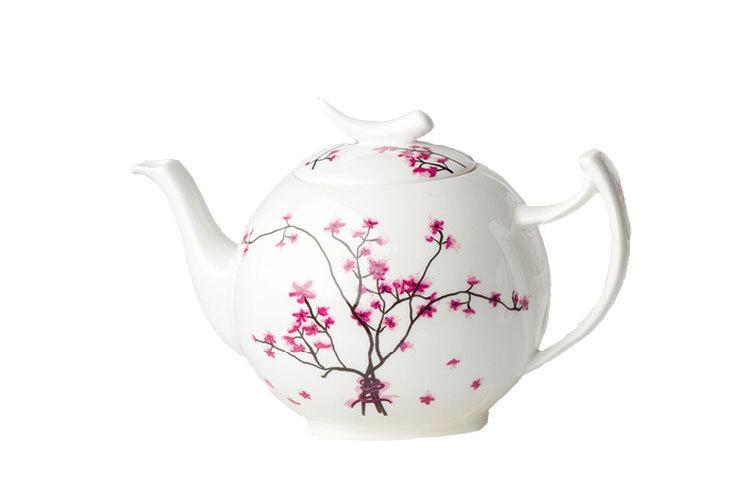 teekanne 1 liter cherry blossom tealogic bone china kirschbl. Black Bedroom Furniture Sets. Home Design Ideas