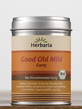 Good Old Mild Curry - Bio Gewürzmischung Herbaria 80g Dose