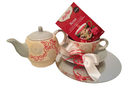 "Geschenkset Tea for one ""Alesia"" + Yogi Tea Rose"