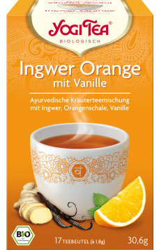 Yogi Tea® Ingwer Orange mit Vanille 17 Btl. - kbA