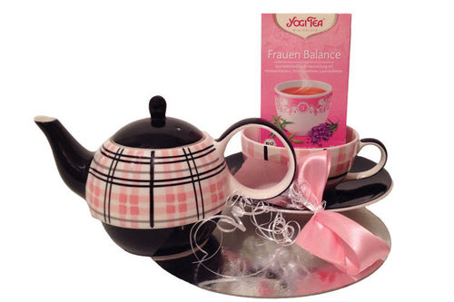 "Geschenkset Tea for one ""Trudy"" + Frauen Balance Yogi Tea"