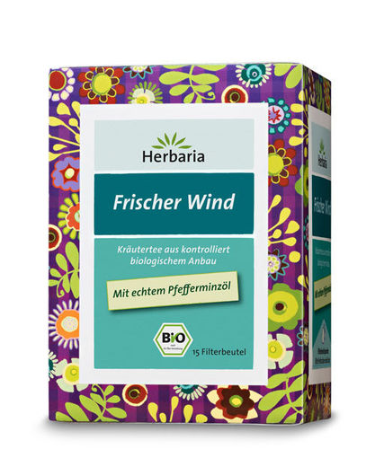 Well-Being Frischer Wind Bio Kräuterteemischung Herbaria 15 Btl.