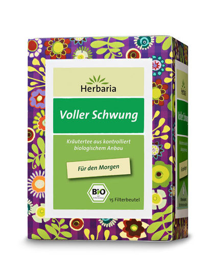 Well-Being Voller Schwung Bio Kräuterteemischung Herbaria 15 Btl.